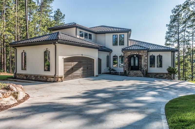 Modern Mediterranean Villa - Cobblestone Homes Greenville SC
