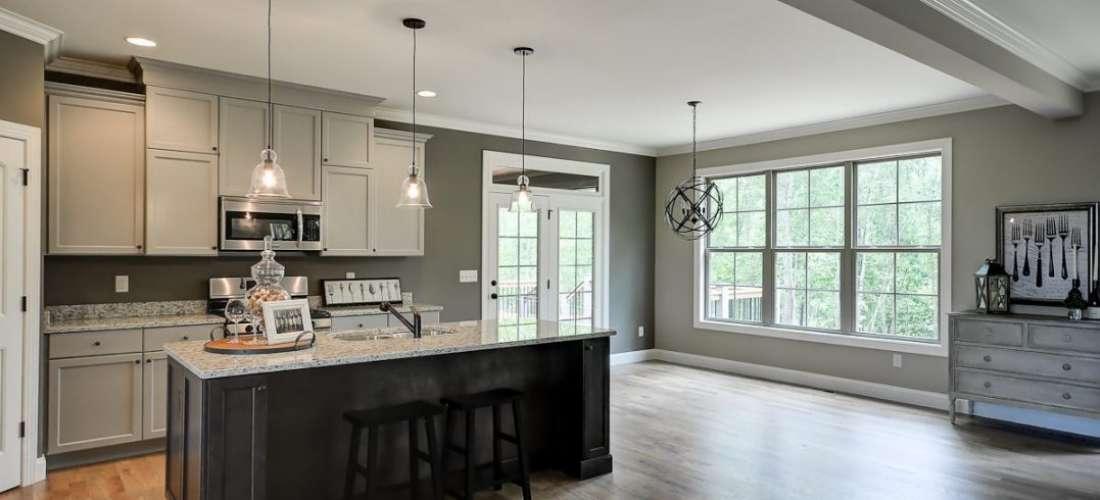 Silver Meadows Kitchen - Cobblestone Homes Greenville SC